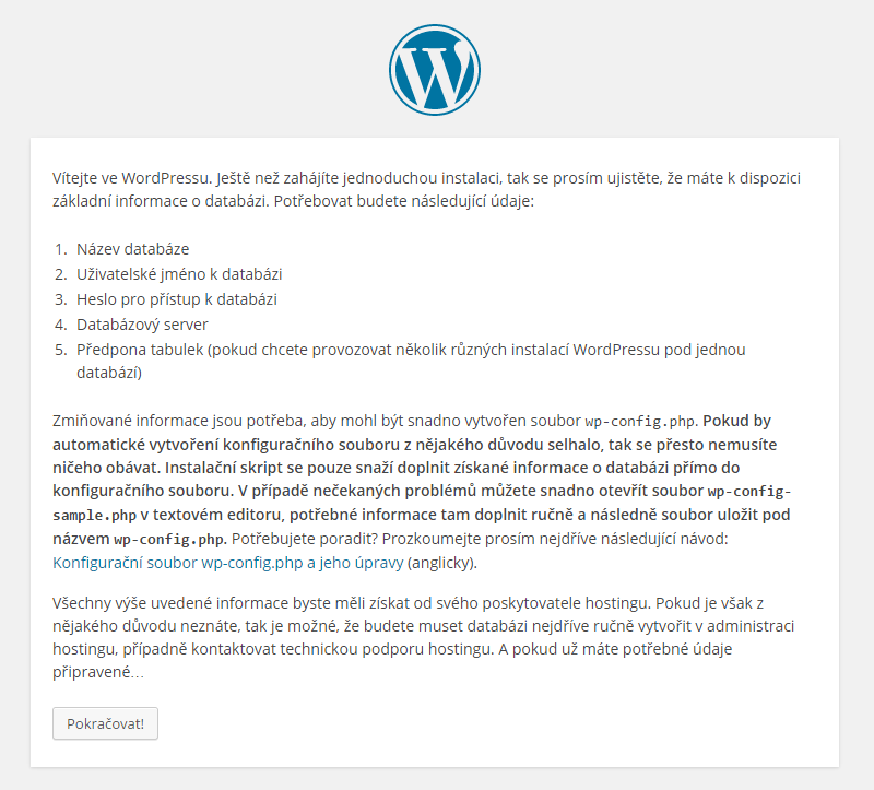 Instalace WordPress návod