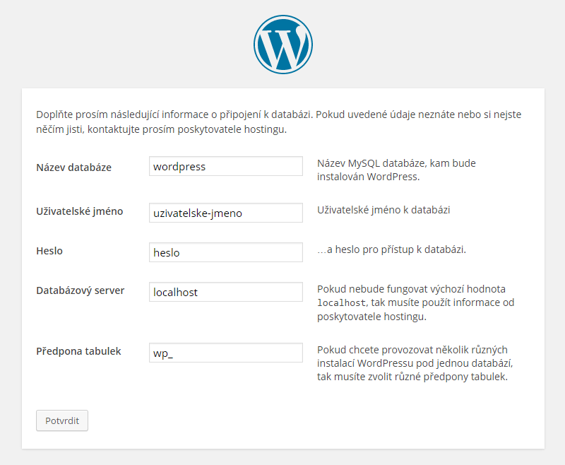WordPress instalace a návod