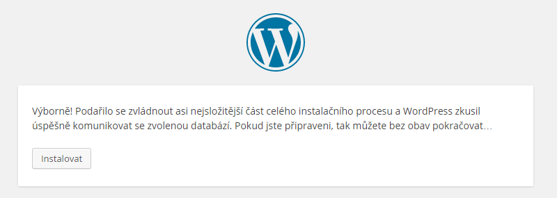 WordPress instalace a návod 03